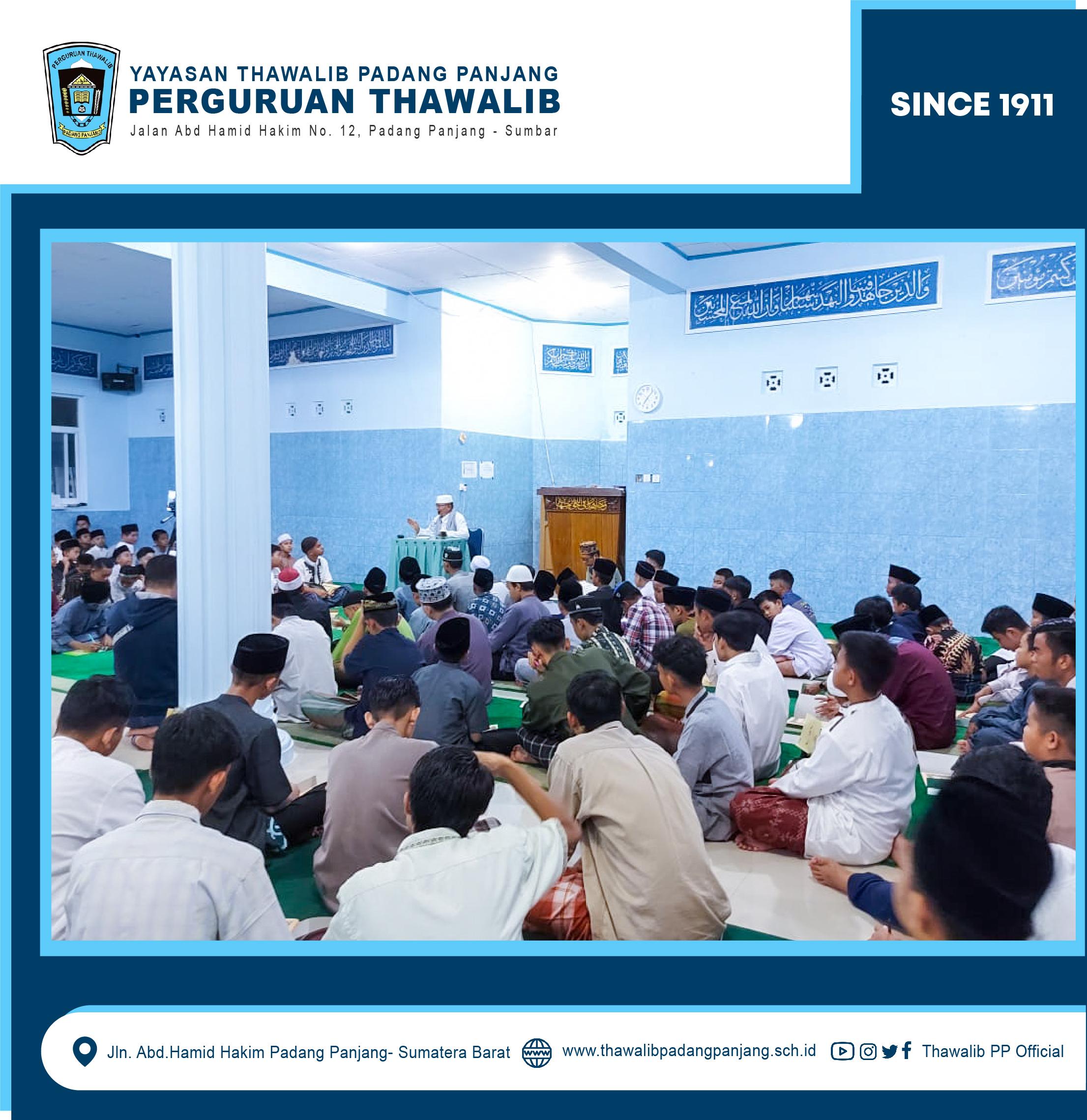 """antri Thawalib Putra Padang Panjang Antusias Bahas Kitab """"Nashaihul Ibad"""""""