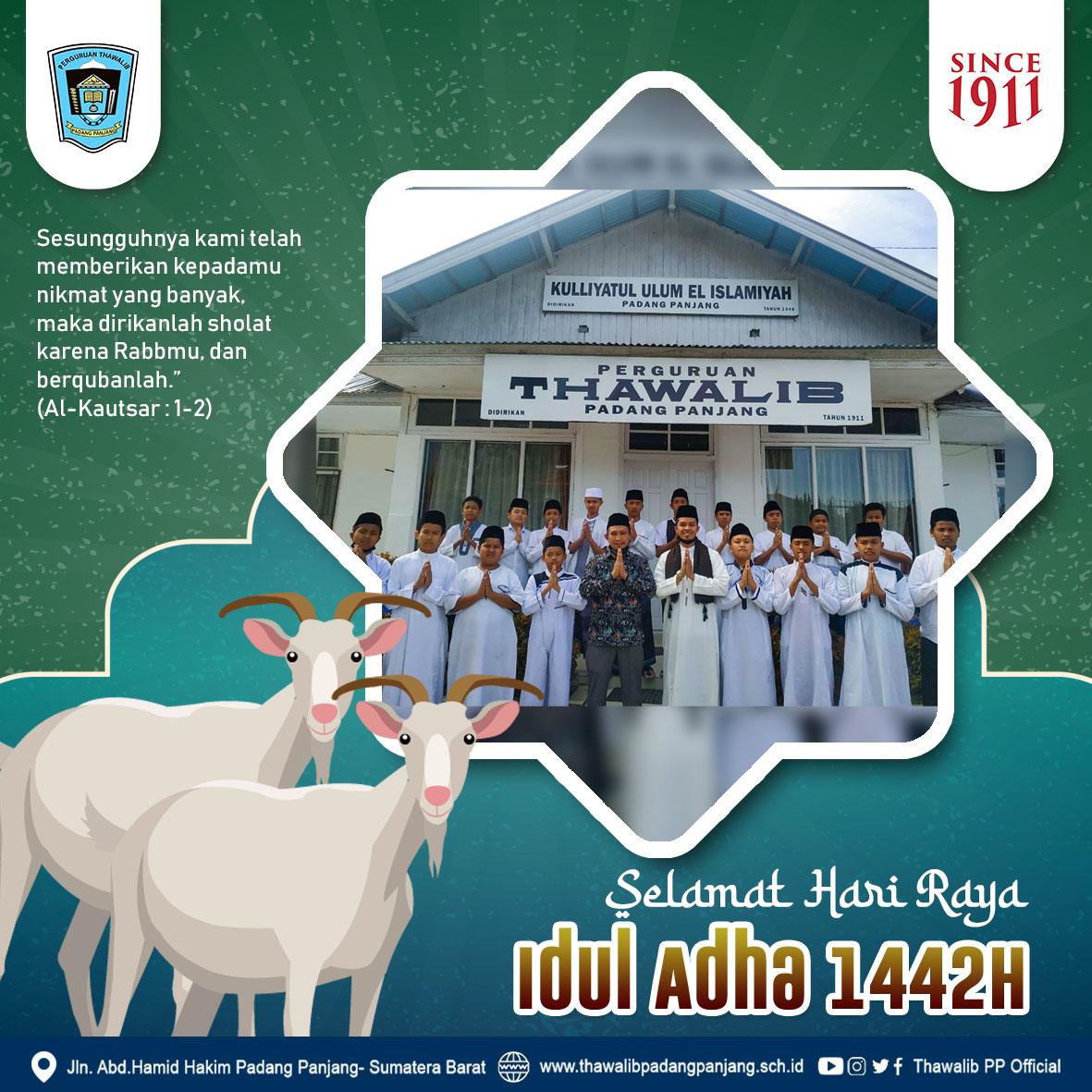 Dokumentasi Pelaksanaan Sholat Idul Adha 1442 H di Perguruan Thawalib Putra Padang Panjang ( Selasa, 20 Juli 2021)